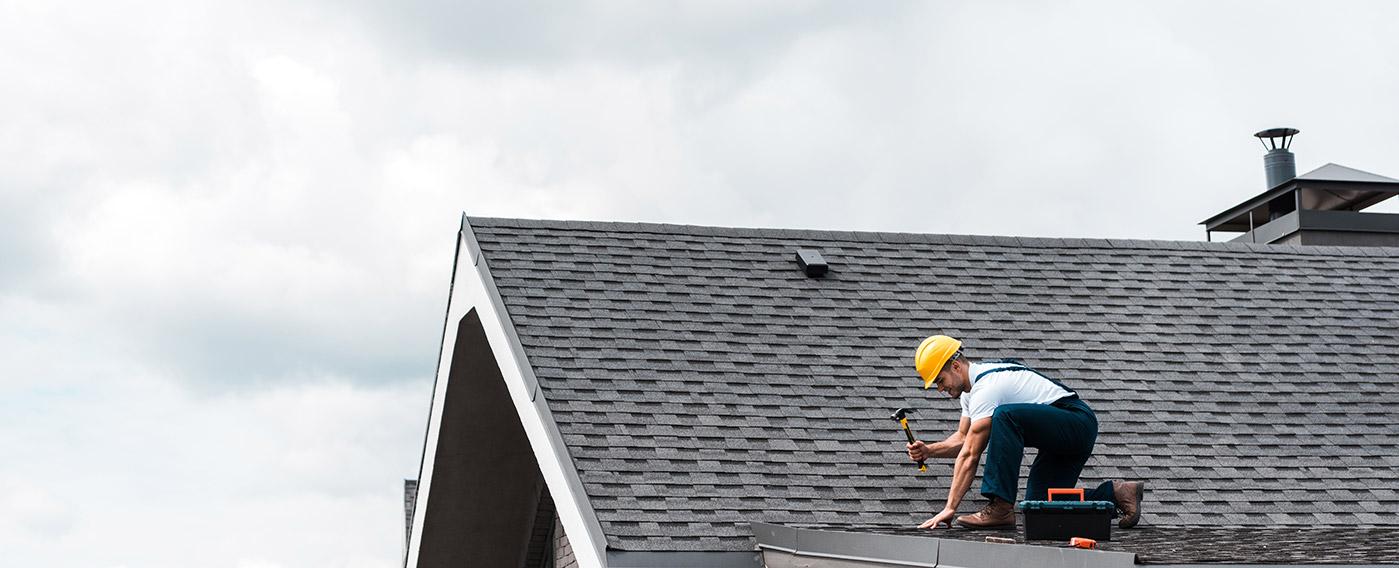 hail damage repair of roof in Longmont
